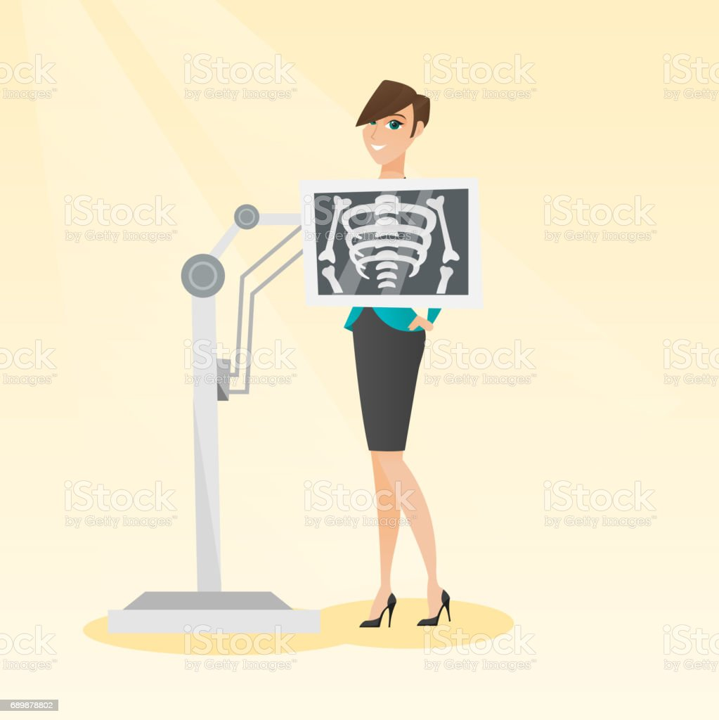 Ilustración de Paciente Durante Rayos X Procedimiento De