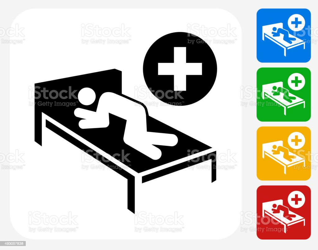 Patient Icon Flat Graphic Design vector art illustration