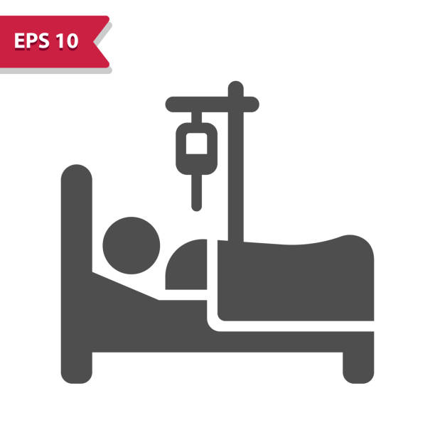 stockillustraties, clipart, cartoons en iconen met pictogram patiënt - knock out