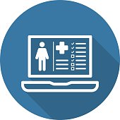 Patient Medical Record Icon. Flat Design.