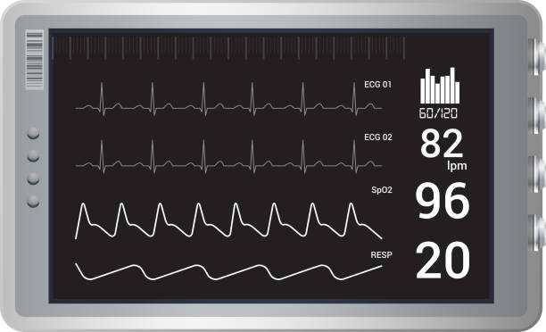 Art Monitoring System : Cardiac conduction system clip art vector images