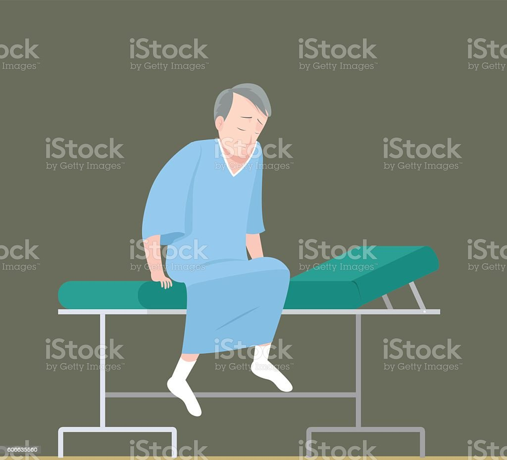 Patient On Examination Bed Man Stock Vector Art & More Images of
