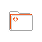 istock Patient Record Folder Icon with Editable Stroke 1286693372