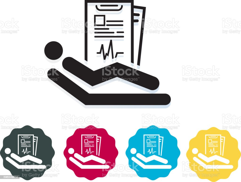 Patient Report Icon royalty-free patient report icon stock vector art & more images of bed