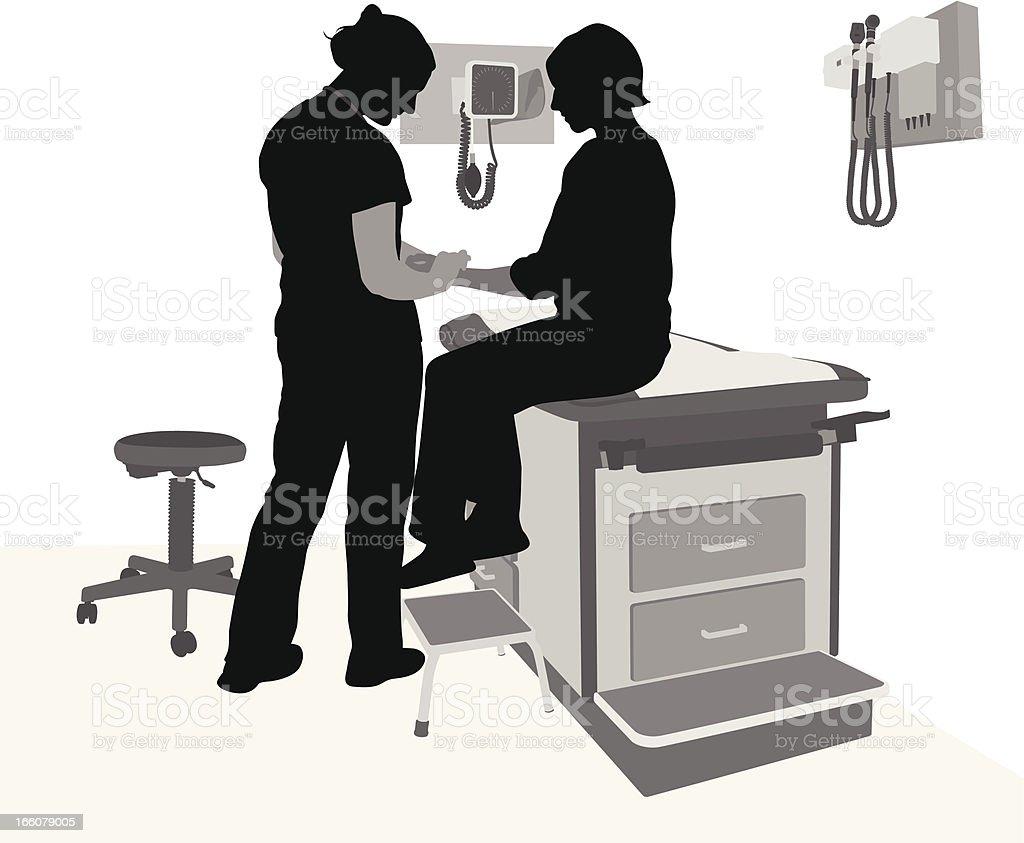 Patient Vector Silhouette royalty-free stock vector art