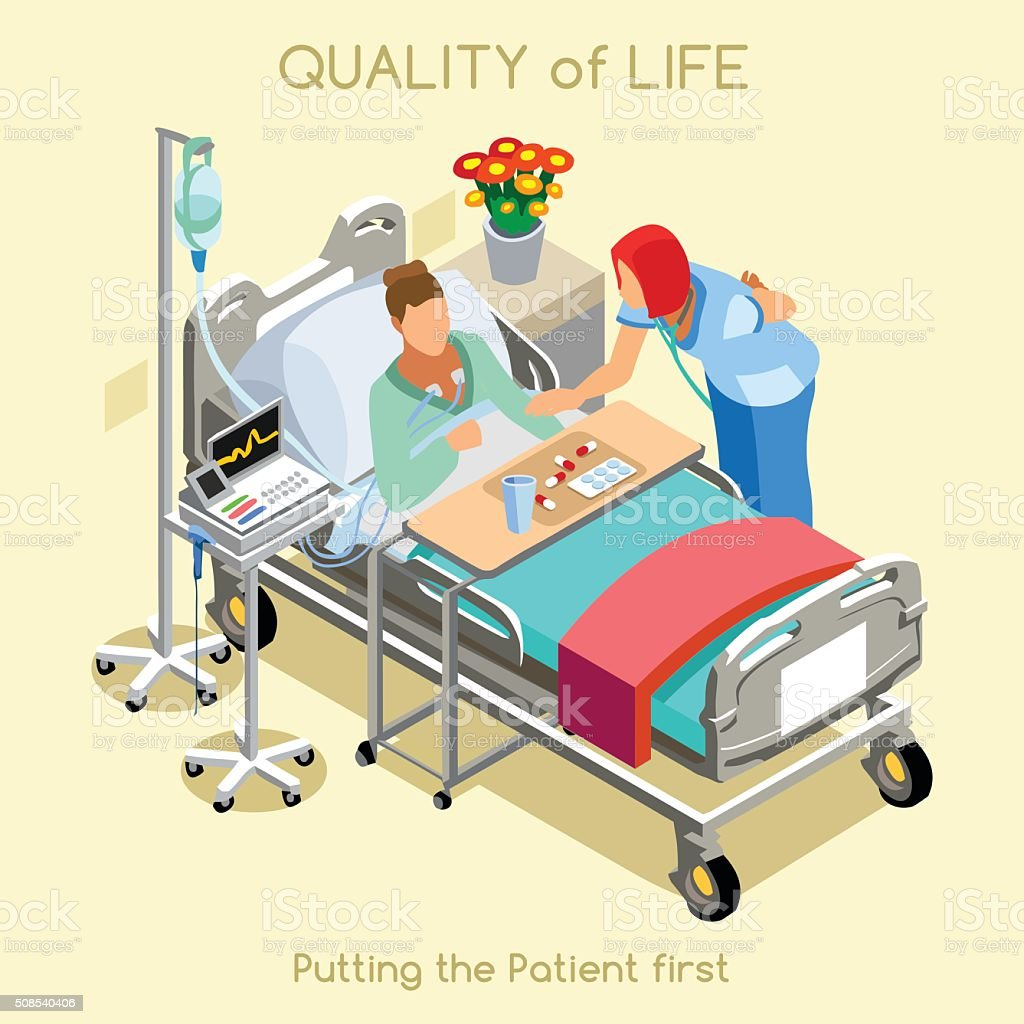 Patient Visit 02 People Isometric vector art illustration