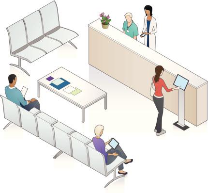 Patient Waiting Area Illustration