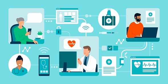Patients connecting with their doctor online