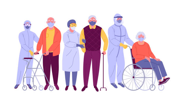 illustrations, cliparts, dessins animés et icônes de patients atteints de coronavirus. - medecin covid