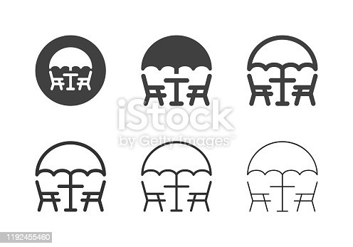 istock Patio Furniture Icons - Multi Series 1192455460