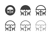 Patio Furniture Icons Multi Series Vector EPS File.