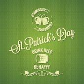 Patrick day beer design background