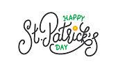 Patrick Day. Happy St. Patrick's Day vector lettering label