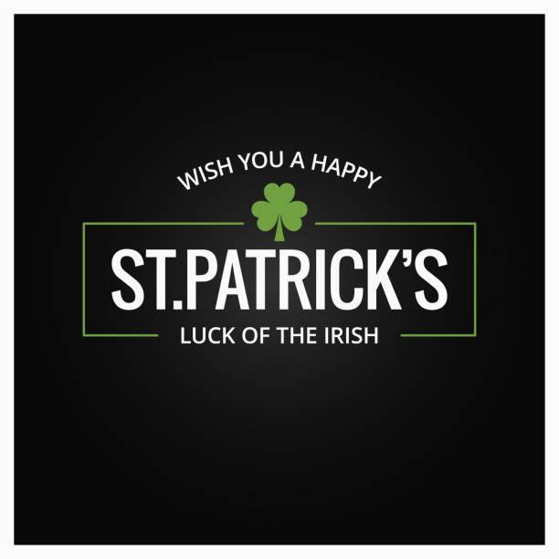 Patrick day  on dark background Patrick day  on dark green background 8 eps irish culture stock illustrations