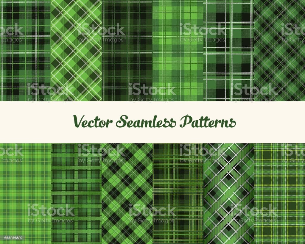 Patrick day patterns vector art illustration