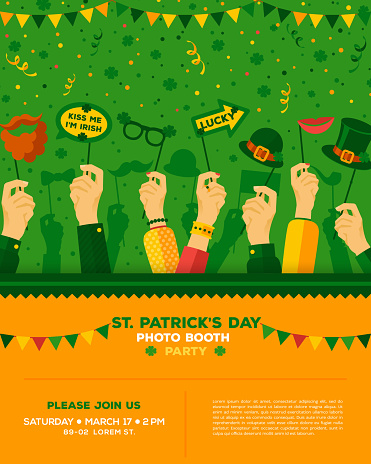 Patrick's day carnival party poster