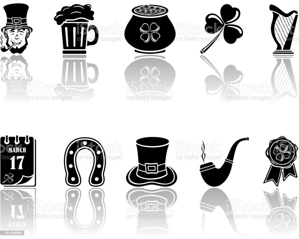 Patricks Day icons royalty-free stock vector art