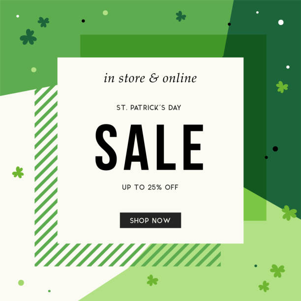 patrick's day sale banner_18 - email templates stock illustrations