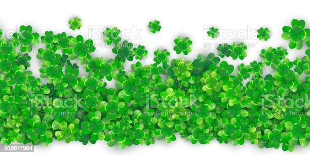 Patricks day seamless background with four green clover heap with vector id918677964?b=1&k=6&m=918677964&s=612x612&h=ejvdouyuddp5pqfo4loog8 hiqa9p2kw8zix apoeuk=