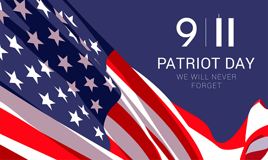 Patriot Day banner design template.