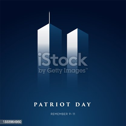 istock 9/11 Patriot Day banner. USA Patriot Day card 1333964950