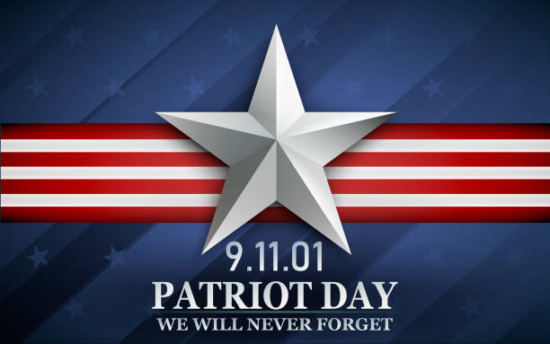 Patriot day. Design for postcard, flyer, poster, banner. 11th of september. We Will Never Forget. Vector illustration. Patriot day. Design for postcard, flyer, poster, banner. 11th of september. We Will Never Forget celebrities stock illustrations