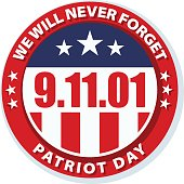 9.11 Patriot Day illustration badge