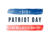 istock Patriot Day USA 9/11 card, September 11. We will never forget. Vector 1270024945