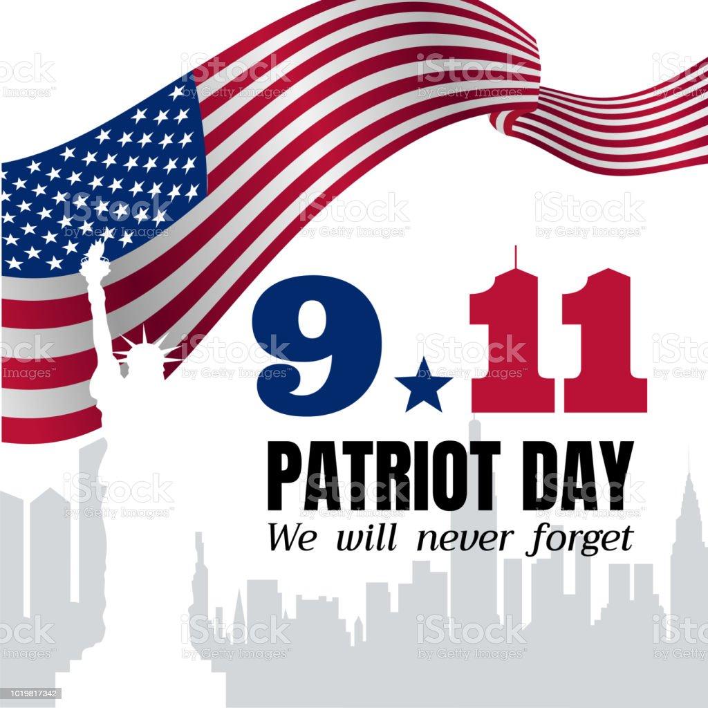 Patriot Day Vector Poster vector art illustration
