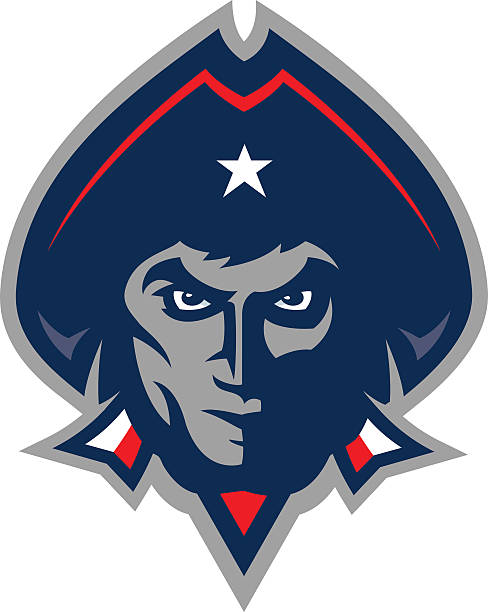 Patriot Head vector art illustration