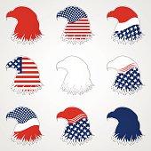 Patriotic American Symbol for Holiday. Illustration Eagle Symbol. EPS 10
