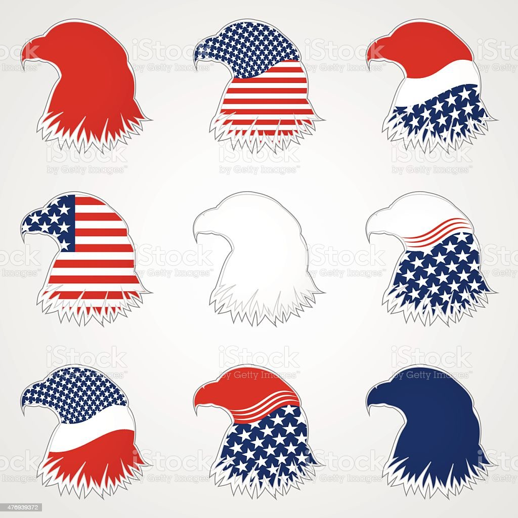 Patriotic American Symbol for Holiday. Eagle Symbol vector art illustration