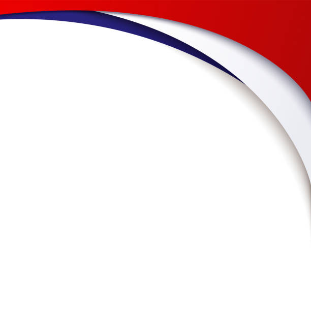 ilustrações, clipart, desenhos animados e ícones de fundo patriótico das cores da bandeira nacional da frança fluindo linhas onduladas abstratas elemento de design de poster cartão modelo bandeira símbolo patriótico de feriados nacionais do país vector - bandeira da frança