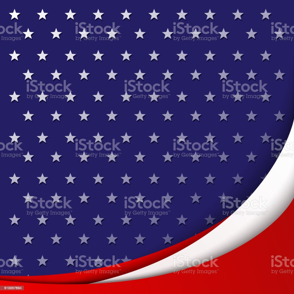 Patriotic Background Of Colors Of The National Flag Of Usa