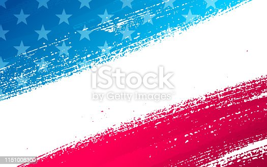 Abstract patriotic fourth of July independence day background.