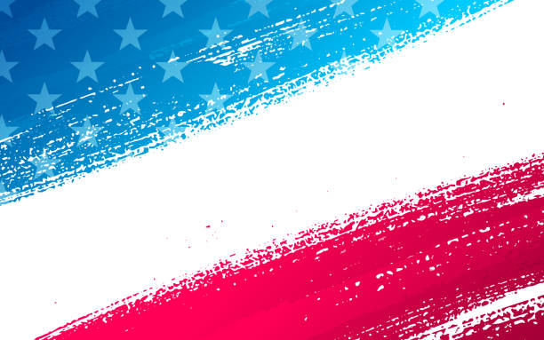 patriotic background - inauguration stock illustrations