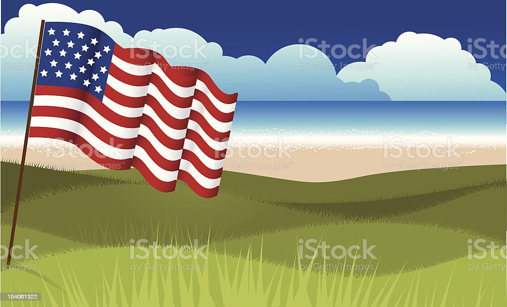 Patriotic Background vector art illustration