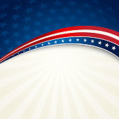Vector illustration Patriotic background. EPS10. Contains transparensy.