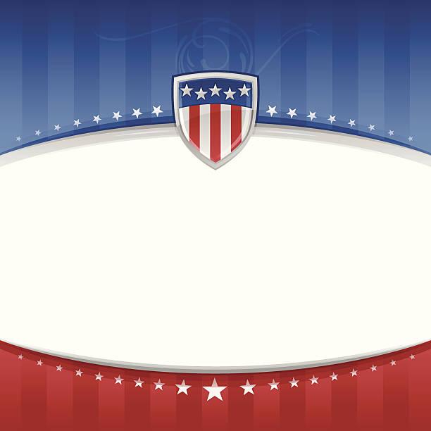 USA Patriotic Background Detailed patriotic USA background with copy space. inauguration stock illustrations