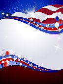 Patriotic Background with Copy space. Each element in a separate layers. Very easy to edit vector EPS10 file. It has transparency layers with blend effects.