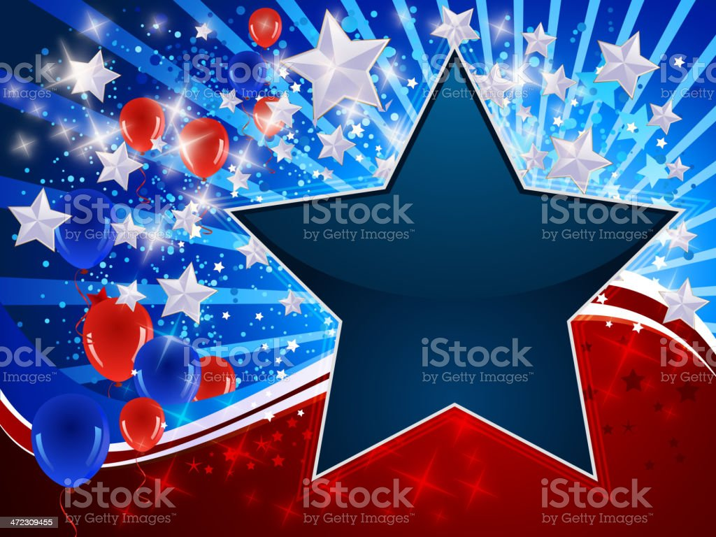 Patriotic Background with Stars royalty-free stock vector art