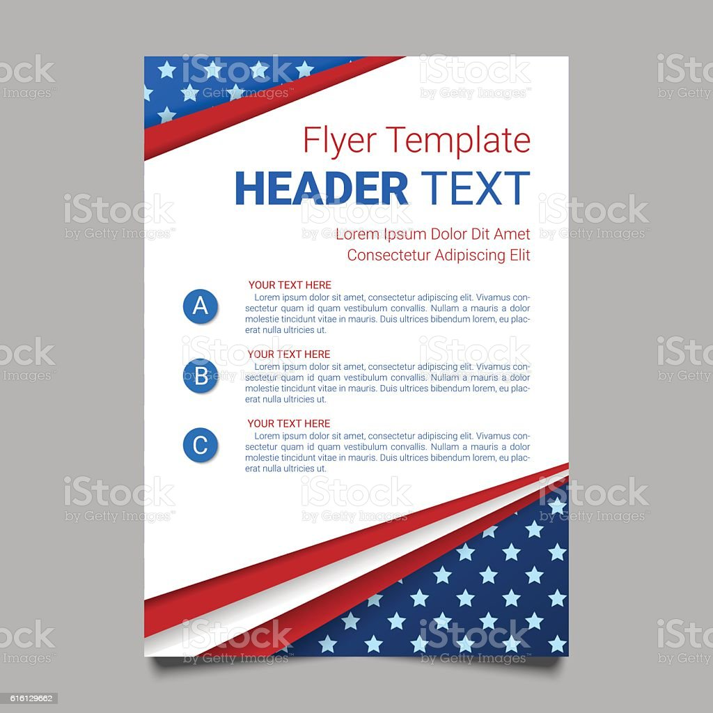 USA patriotic background with stripes and stars for posters, flyers. vector art illustration