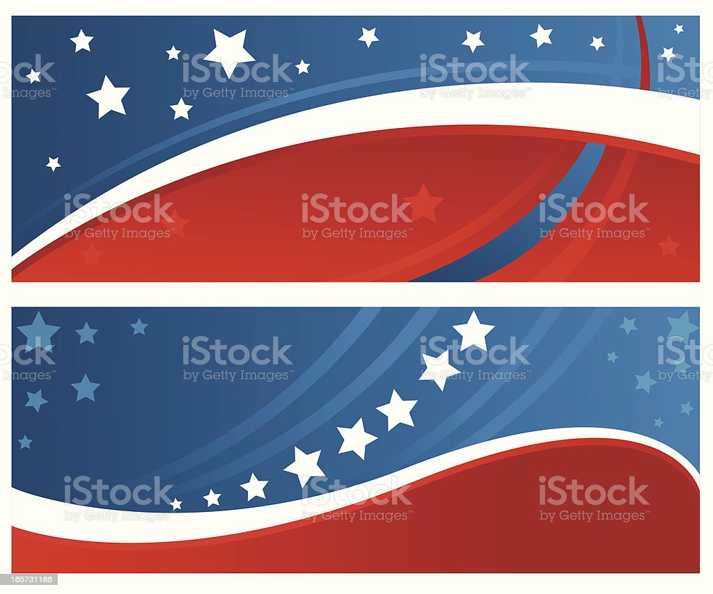 Patriotic Background/Banner royalty-free stock vector art