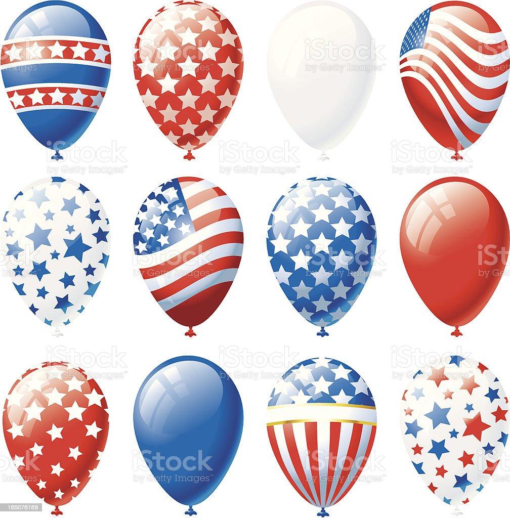 Patriotic Balloons royalty-free stock vector art