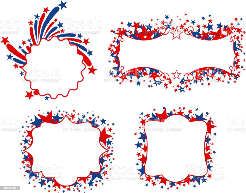 Patriotic banners vector art illustration