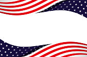 american flag abstract flowing design element frame