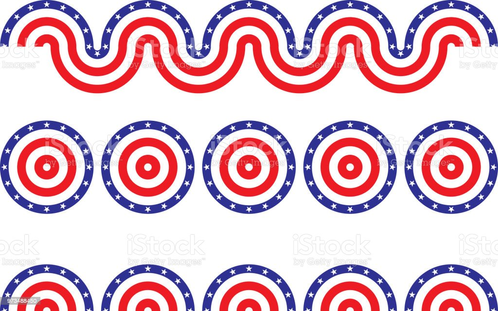 Patriotic Bunting vector art illustration