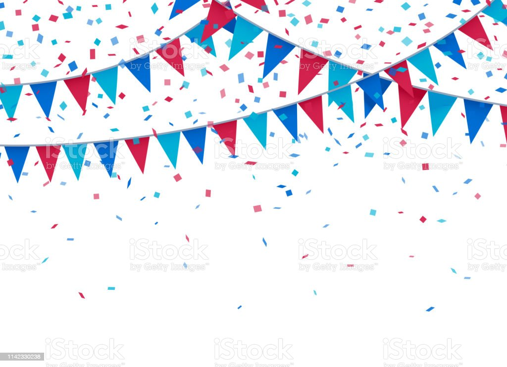 USA Patriotic Celebration Background Celebration fourth of july independence day bunting background. Achievement stock vector
