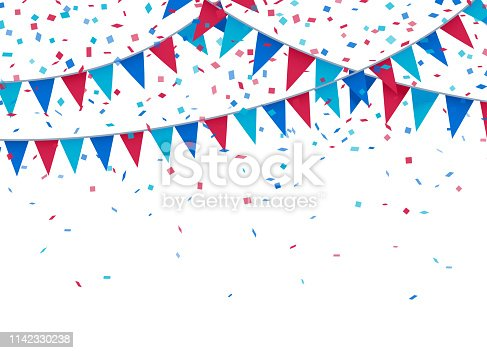 Celebration fourth of july independence day bunting background.
