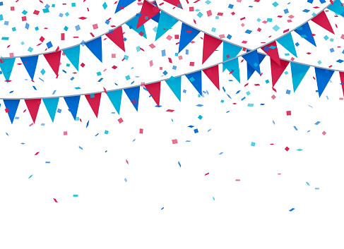 Usa Patriotic Celebration Background Stock Illustration - Download Image Now